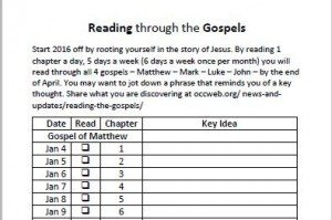 reading the gospels