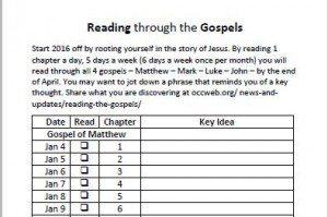reading the gospels
